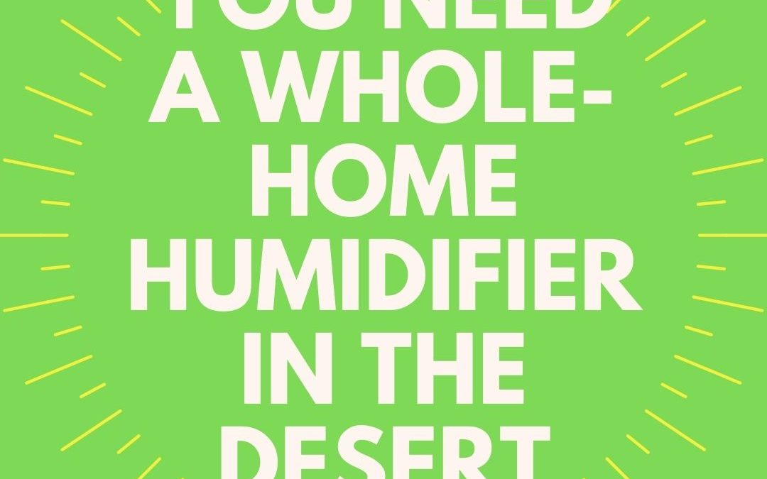 Desert Dwelling: Why Adding a Humidifier to Your Home Is Your Next Best Idea